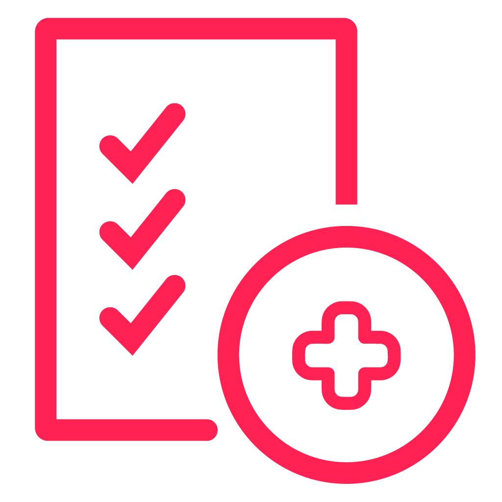 Icono de Lectura de exámenes médicos